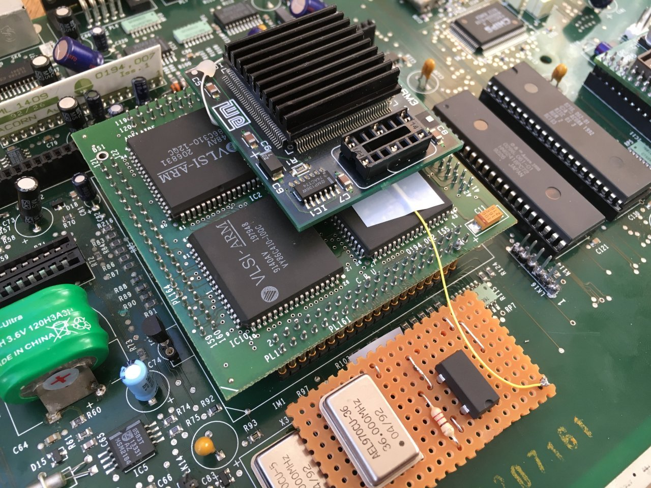 Acorn Archimedes A3010 ARM3 Installed