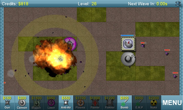 Big Guns Tower Defense Level