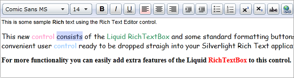 Rich Text Editor User Control