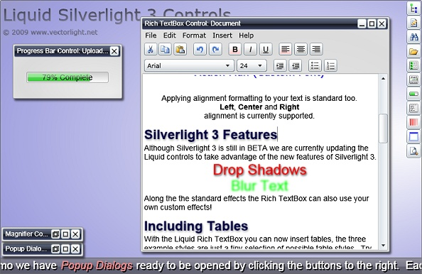 New Silverlight 3 Controls Demo