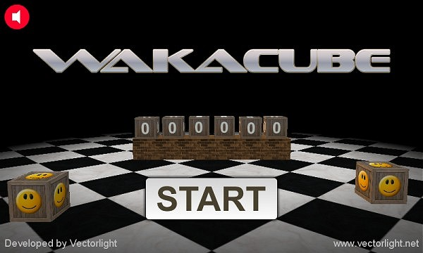 Wakacube Start Screen